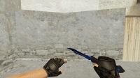 Модель «Нож-бабочка | Доплеровский сапфир» для CS 1.6 - изображение 3